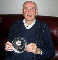 Harry Glasgow receives his commemorative salver in 2014