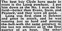 An extract from a match report on the 1955 Cup Final