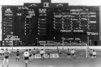 Action from Clyde's last game at Shawfield showing the famous Tote board