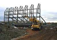 Construction of the Main Stand begins